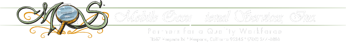 Mobile Occupational Services, Inc. Partners for a quality workforce.